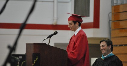 Speech from senior Brad Gallow opens the 54th Baccalaureate ceremony.