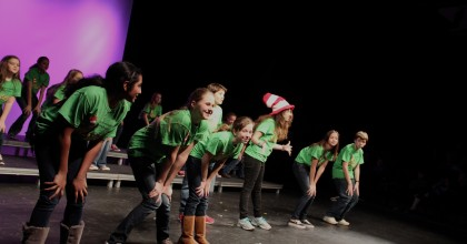 "Middle school students perform ""Oh the Thing You Can Think"" from their production of ""Suessical"" by Lynn Ahrens and Stephen Flaherty."