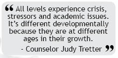 Counselors respond to array of issues for students
