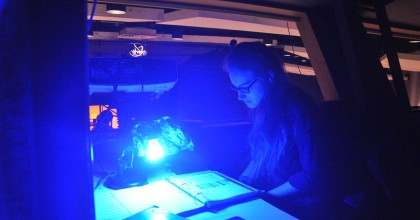 Junior Jessie Goldberg follows her tech script during Fall Play rehearsal. She and fellow theater students senior Joanna Kolker, sophomore Jonathan Scully and senior Adam Cohen used their tech crew skills to bring home first-place finishes at the State Thespian Conference on Jan. 6.