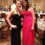 Seniors Jessica Sikora and Rachel Green enjoy Parkway's 2013 Prom at the Frontenac-Hilton.