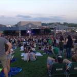 An audience crowds the lawn of Verizon Wireless Amphitheater before Paramore comes on stage on July 6, 2014.