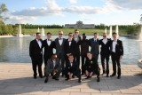 A group of senior boys from North pose for a photo at Forest Park before prom. Many students took their photos at either Faust Park or Forest Park.